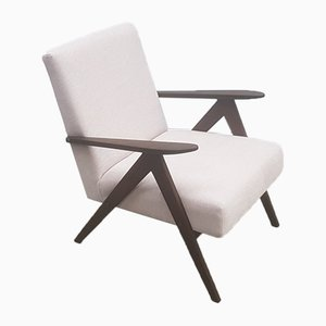 Mid-Century Model B-310 Easy Chair in Pearl White, 1960s