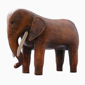 Large Mid-Century Leather Elephant by Dimitri Omersa for Almazan