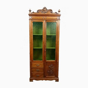 Art Nouveau Bookcase in Walnut
