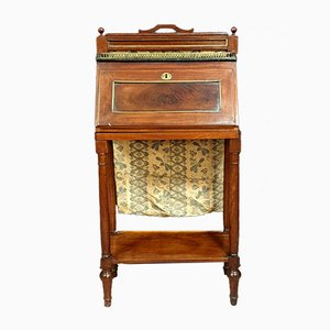 Antique Directoire Mahogany and Gilded Bronze Secretaire