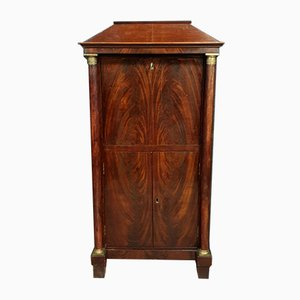 Antique Empire Flamed Mahogany Secretaire