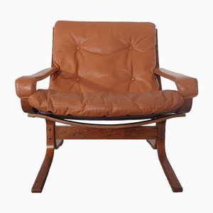 Leather Siesta Lounge Chair by Ingmar Relling for Westnofa, Norway, 1970s