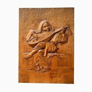 Luth Musician Relief by Giorgio Benedetti, 1970s