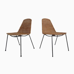 Basket Chairs by Gian Franco Legler, 1950s, Set of 2