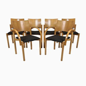 Beech Stackable Dining Chairs from Casala, 1980s, Set of 6