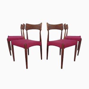 Palisander Esszimmerstühle von Bernhard Pedersen & Søn, 1960er, 4er Set