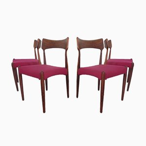 Rosewood Dining Chairs by Bernhard Pedersen & Søn, 1960s, Set of 4