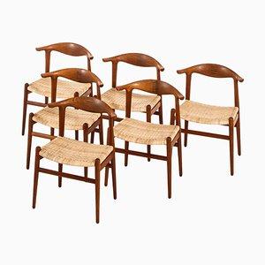 Rosewood JH-505 Dining Chairs by Hans J. Wegner for Johannes Hansen, Denmark, 1952, Set of 6