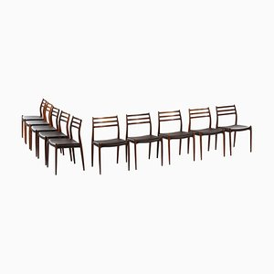 Rosewood Model 78 Dining Chairs by Niels Otto Møller, Denmark, 1960s, Set of 10