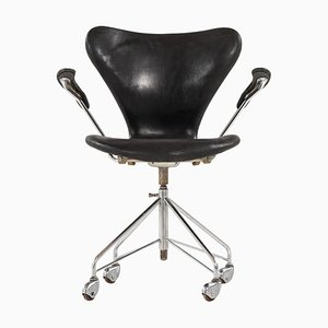 Model 3117 Office Chair by Arne Jacobsen for Fritz Hansen, Denmark, 1960s