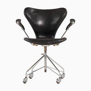 Sedia da ufficio modello 3117 di Arne Jacobsen per Fritz Hansen, Danimarca, anni '60