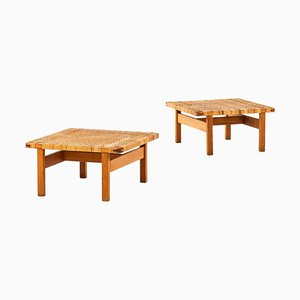 Model 5274 Side Tables or Benches by Børge Mogensen for Fredericia Stolefabrik, 1950s, Set of 2