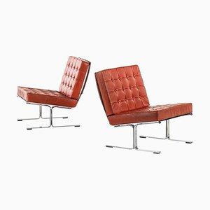 Model F60 Easy Chairs by Karl-Erik Ekselius for JOC, Sweden, 1960s, Set of 2