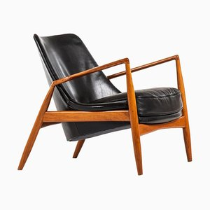 Model Sälen or Seal Easy Chair by Ib Kofod-Larsen for OPE, Sweden, 1950s