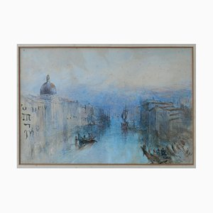 19th Century Italian Venice Watercolor Painting