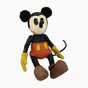 Stuffed Felt Mickey Mouse Children's Toy, 1930s