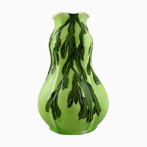 Art Nouveau Vase in Glazed Ceramic by Gunnar Wennerberg for Gustavsberg, 1906