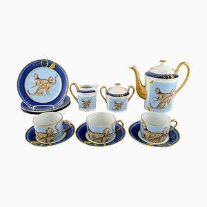 Kaffeeservice für 3 Personen aus Porzellan von Limoges & Porcelaine de Paris, 1960er, 12er Set