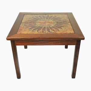 Danish Tiled Top Coffee Table from Mobelfabrikken Toften, 1970s