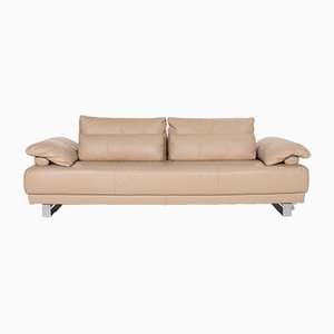 Beige Leather 3-Seat Sofa from Ewald Schillig