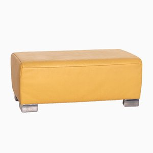 Yellow Leather Volare Stool from Koinor