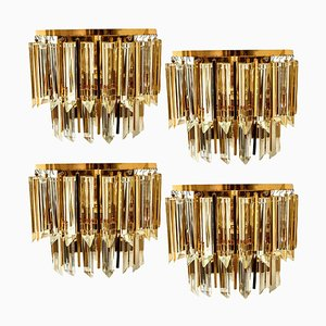 Murano Glass and Brass Sconce from Palwa, Austria, 1960s