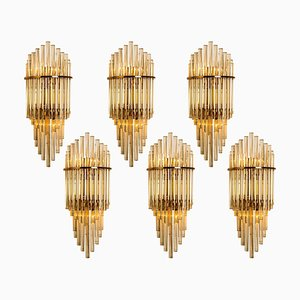 Glass Rod Waterfall Wall Sconce by Gaetano Sciolari for Lightolier, 1960s