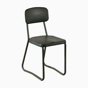 Italian Metal and Skai Chair, 1950s