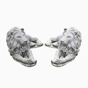 Recumbent Lions, Set of 2