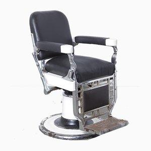 Sedia da barbiere Chicago antica di Theo A Kochs