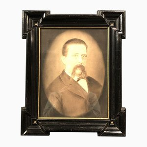 Framed Man with Mustache