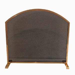 French Neoclassical Style Brass Fireplace Screen, 1970s