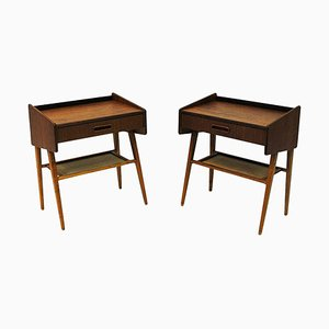 Mid-Century Teak Night or Side Tables, Sweden, 1950s, Set of 2