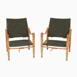 Model 4700 Folding Chairs by Kaare Klint for Rud. Rasmussen, 1960s, Set of 2