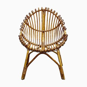 Bamboo and Rattan Chair, 1950s