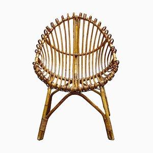 Chaise en Bambou et Rotin, 1950s