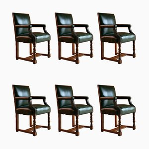 Antique Armchairs from Howard & Sons, Set of 6