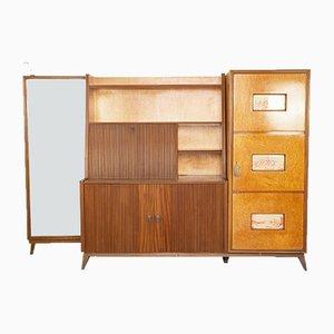 Mobile da ingresso vintage in legno, anni '50