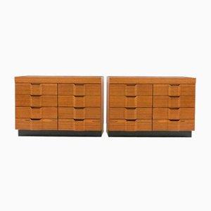 Wooden Dressers by Carlo de Carli, 1960s, Set of 2