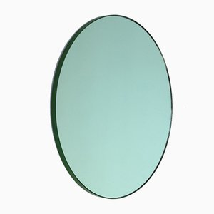 Orbis™ Green Tinted Round Mirror with Green Frame Medium by Alguacil & Perkoff Ltd