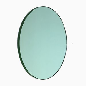 Orbis™ Green Tinted Round Mirror with Green Frame Oversized by Alguacil & Perkoff Ltd