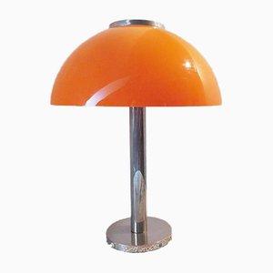 Large Mid-Century Space Age Orange Table Lamp