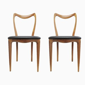 Mid-Century Dining Chairs from Pozzi, Set of 2