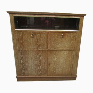 Double Secretaire Cabinet in Ceruse Oak, 1950s