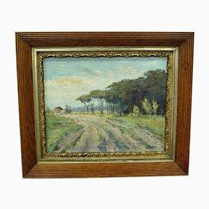 Pittura ad olio di Wim van Norden, Olanda, anni '40