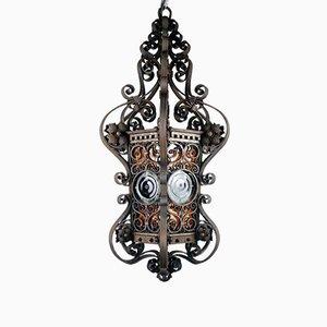 Antike Deckenlampe aus Schmiedeeisen für Außenbereich, 1880er