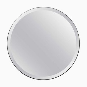 Orbis™ Bevelled Round Elegant Frameless Mirror with Velvet Backing Medium by Alguacil & Perkoff Ltd
