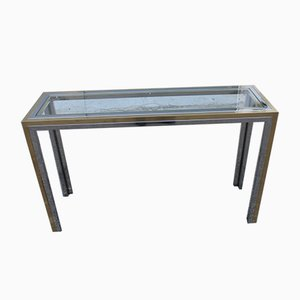 Rectangular Steel & Metal Console Table by Romeo Rega for Metalarte, 1970s