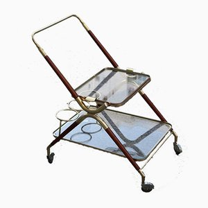 Wood & Brass Trolley, 1950s
