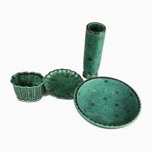 Argenta Keramik von Wilhelm Kåge für Gustavsberg, 1940er, 4er Set
